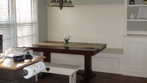 Banquette with storage