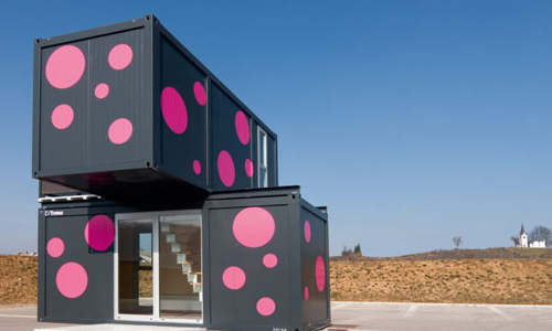 Modern small container house design