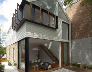White small house design