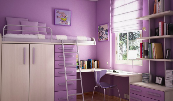 bund bed design for girls room