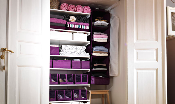 50 beautiful storage ideas for small house small house design - Small space clothes storage pict ...