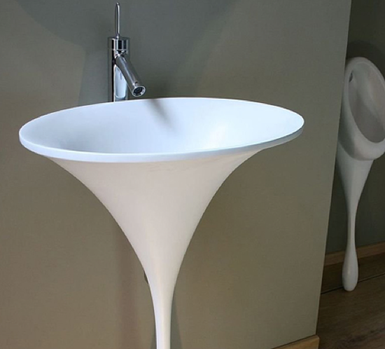 pedestal sinks with thin legs