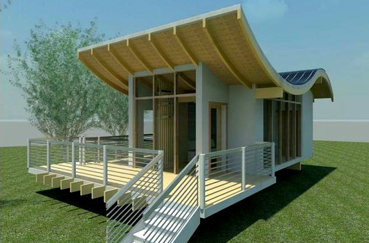 small bamboo house design