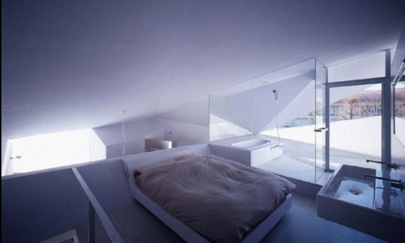 small concrete house bedroom