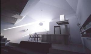 small concrete house living room design