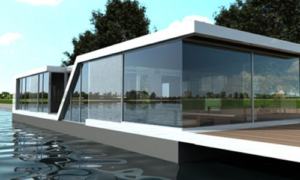 small glass house design