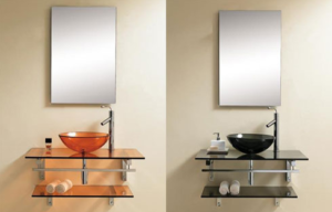 small sinks with storage