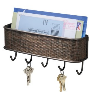 wall mounted key and mail holder