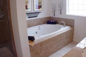 bathroom in modular home