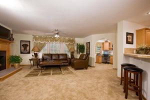 small modular home living room