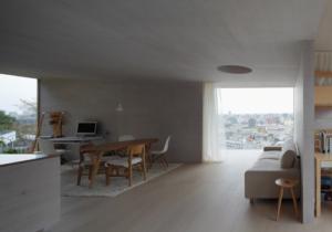 Wooden modern japanese living room