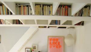 ceiling book shelves