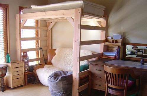 Cool Loft Bed Designs For Small Houses House Design