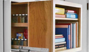 rolling spice rack with bookshelf