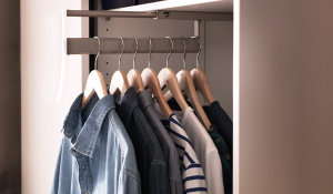 slim wardrobe rack