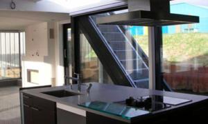 small glass boat house design
