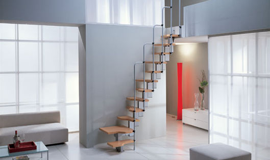 Building stairways for small spaces