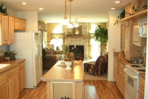 kitchen in small modular home
